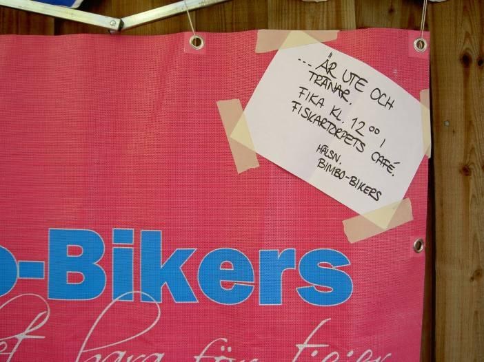 Cykel hjärta fika